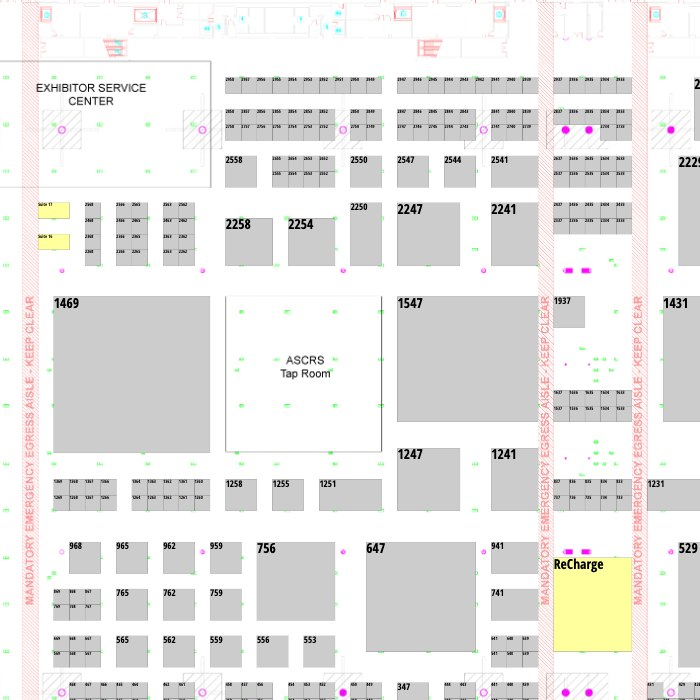 ASCRS ASOA Annual Meeting Exhibitor Floor Plan